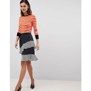 spot and stripe ruffle skirt - multi, Y.a.s, 34-42