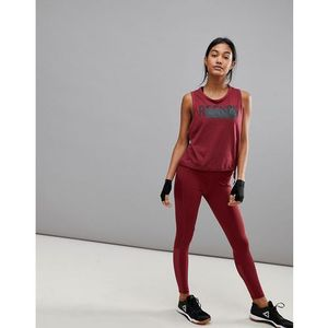 training mesh legging in burgundy - purple marki Reebok