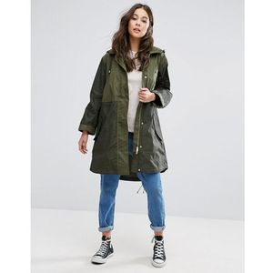 mili canvas summer parka - green marki French connection