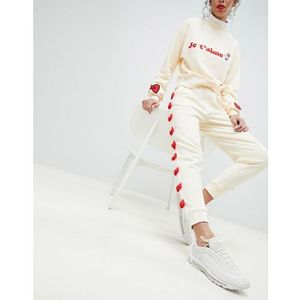 Hello kitty x bow joggers with peeping motif - white, Asos