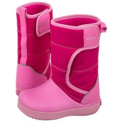 Śniegowce Crocs Lodgepoint Snow Boot K Candy Pink/Party Pink 204660-6LR (CR129-b)