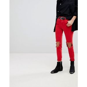 Blank NYC Skinny Jeans With Ripped Knee - Red, jeans