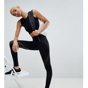 Ivy park high waisted leggings with mesh panel inserts - black