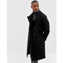 ASOS DESIGN shower resistant longline trench coat with belt in black - Black, w 5 rozmiarach