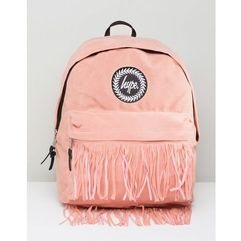 Hype backpack with fringed pocket - pink