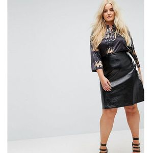 vinyl mini skirt - black marki Elvi