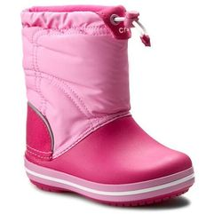 Crocs Śniegowce - crocband lodgepoint boot k 203509 candy pink/party pink