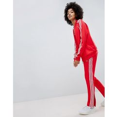 adicolor three stripe track pants in red - red, Adidas originals