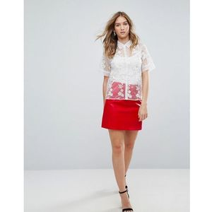 Traffic People PU A Line Skirt - Red