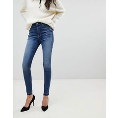 aubrey super high waist skinny jeans - blue, 7 for all mankind