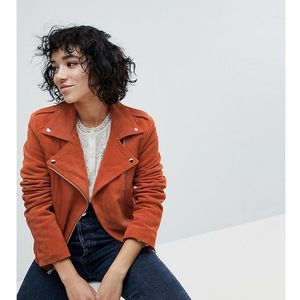 inspired suede biker jacket - orange marki Reclaimed vintage