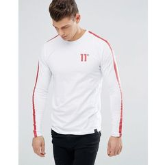 11 Degrees T-Shirt In Black With Red Reflective Stripe - Black