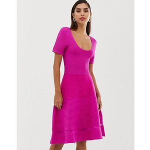 French Connection Volette crepe knit mini dress - Pink, kolor różowy