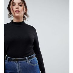 ASOS CURVE Vintage Look Waist and Hip Belt in Water Based PU - Black