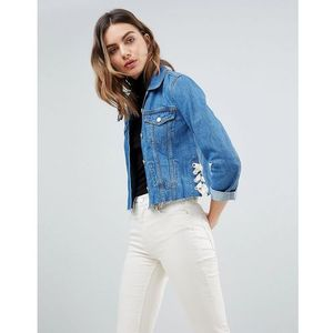 French connection lace up denim jacket - blue