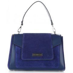 c9ae6cce18662 Damskie torebki skórzane kuferki firmy niebieskie (kolory) marki Vittoria  gotti
