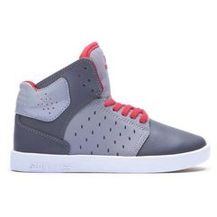 buty SUPRA - Kids Atom Grey/Charcoal/Red-White (GCR)