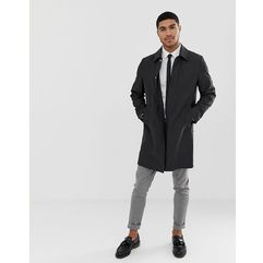 ASOS DESIGN shower resistant trench coat in black - Black, kolor czarny