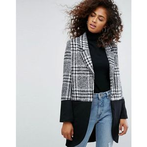 property coat in check mix - grey marki Religion