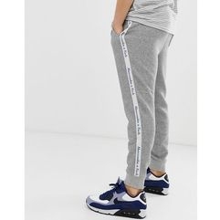 logo side tape cuffed joggers in mid grey - grey marki Abercrombie & fitch