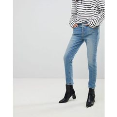 7 For All Mankind Josefina Fitted Boyfriend Jeans - Blue, kolor niebieski