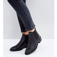 Asos absolute leather chelsea ankle boots - black marki Asos design