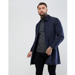 shower resistant single breasted trench coat in navy - navy marki Asos
