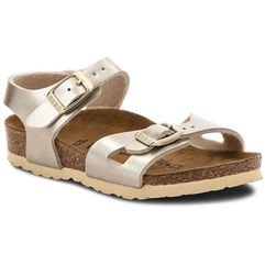 Sandały BIRKENSTOCK - Rio Kids 1010384 Soft Metallic Gold