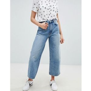 wide leg denim jean in blue - blue marki Pull&bear