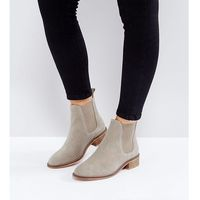 Asos absolute wide fit suede chelsea ankle boots - beige, Asos design