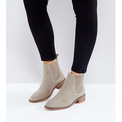 Asos absolute wide fit suede chelsea ankle boots - beige
