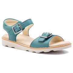 Sandały - crown bloom k 261415356 teal leather marki Clarks