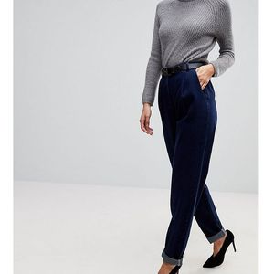 ASOS TALL Tapered Jeans with Curved Seams and Belt in indigo Wash - Blue