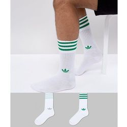 adidas Originals adicolor 2 Pack Crew Socks In Green CE5713 - Green, kolor zielony
