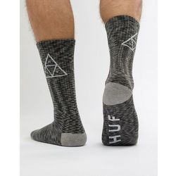HUF Triple Triangle Socks In Black Melange - Black, kolor czarny