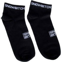 Snowbitch Skarpetki - snowbitch socks ankle black (black)