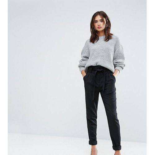 Y.A.S Tall Slim Leg Tailored Trousers With Belted Waist - Black